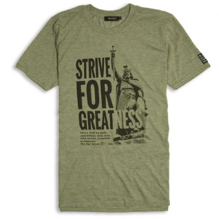 Strive For Greatness T-Shirt  - Heather Military Green
